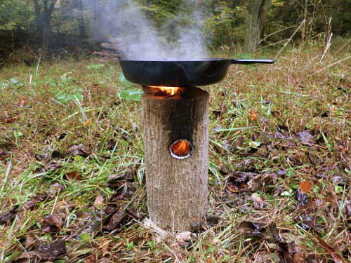 How To Make A One Log Rocket Stove Genius Shtf