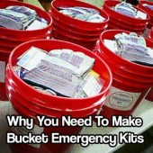 Why You Need To Make Bucket Emergency Kits - You need to make these bucket emergency kits… Simple and cheap to make and more valuable than you would ever imagine! I have 3, one in my car one in my basement and one at my bug out location.