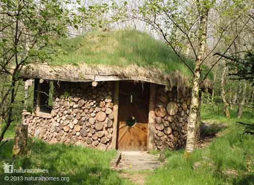 150 natural built cordwood round house shtf prepping for Cordwood house cost