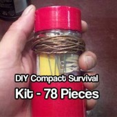 DIY Compact Survival Kit: 78 Pieces - This is a pretty cool little kit that could be made for a very reasonable price. The great thing about this kit is it has 78 survival items that can be placed into pretty much any kit.