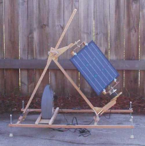 Portable Sun Tracking Solar Panel With A Windup Clock