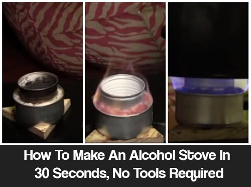 How To Make An Alcohol Stove In 30 Seconds, No Tools Required
