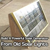 Build A Powerful Solar Generator From Old Solar Lights - Don't throw away another old garden solar panel ever again! Use them and make powerful solar panels to charge your batteries and even get you off the grid.