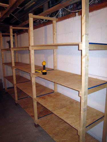 how to build inexpensive basement storage shelves shtf prepping