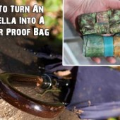 How To Turn An Umbrella Into A Water Proof Bag