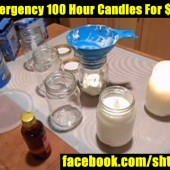 DIY Emergency 100 Hour Candles For $1 Each