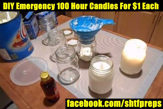 Emergency candles diy, faraday cage microwave, disaster recovery