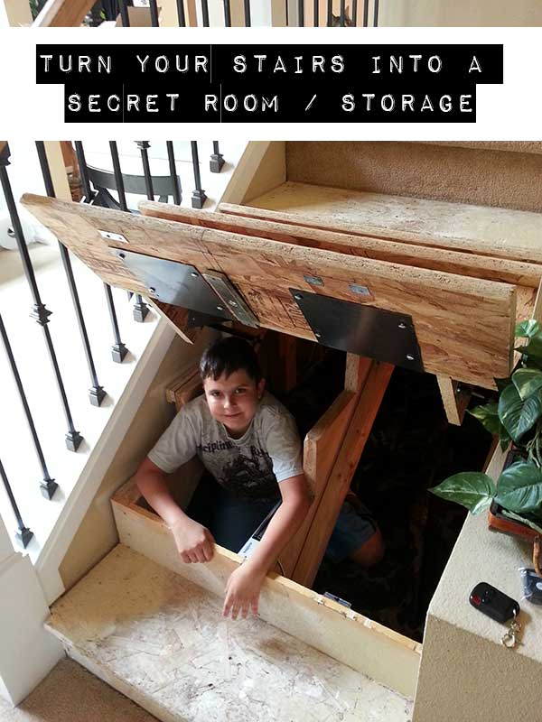 Turn Your Stairs Into A Secret Room Storage Shtf