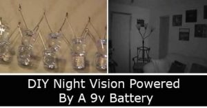 DIY Night Vision Powered By A 9v Battery — This blew me away and After seeing what it took to make this I may just have to rummage around my moms old stuff and get the old video camera.