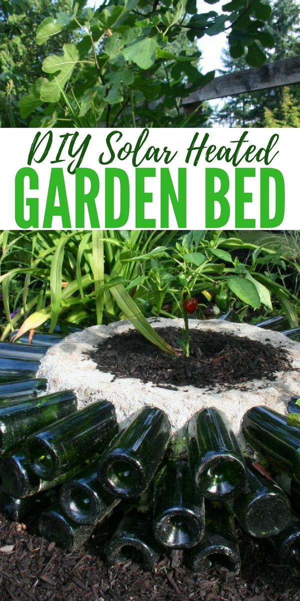 DIY Solar Heated Garden Bed. The great thing about this project is it can be made to suit any garden... so you can make it as bug or as small as you like