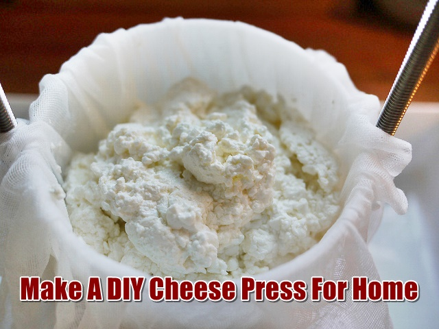 Make a DIY Cheese Press For Home - I found cheese presses for sale online but they were expensive ($70-$275). Why spend that amount of money when you can make your own for a third, if not less of that cost!