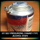 DIY Self-Pressurizing, Chimney-Type  Alcohol Stove