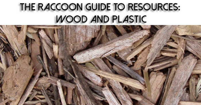 The Raccoon Guide to Resources: Wood and Plastic —You know one of the most impressive things about raccoons? Their ability to adapt to using what is essentially trash to not only survive, but thrive.
