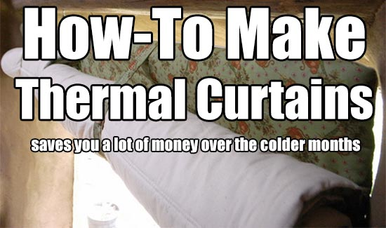 How To Make Your Own Energy-Saving Thermal Curtains
