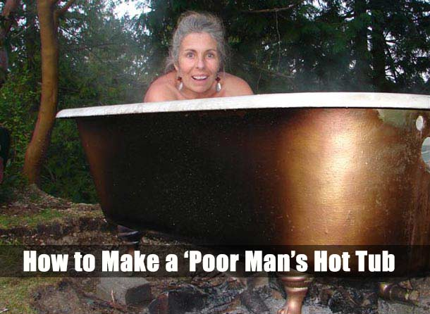 how to make a poor man s hot tub shtf prepping central. Black Bedroom Furniture Sets. Home Design Ideas