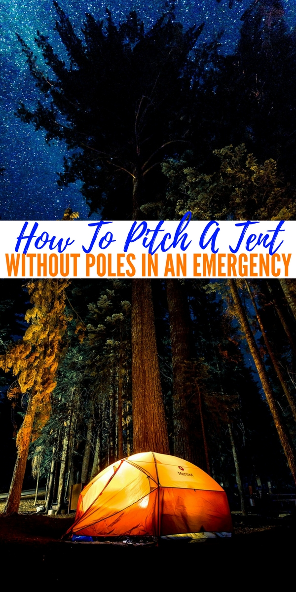 & How To Pitch A Tent Without Poles In An Emergency