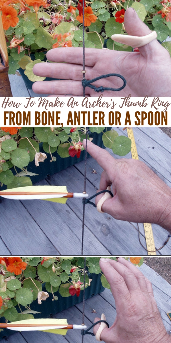 How To Make An Archer's Thumb Ring From Bone, Antler Or A Spoon — I am no expert what so ever on archery or hunting with bows... That being said I did a little research and learned that you can have a steadier aim and hold the bow drawn longer than most people who do not use a thumb ring.