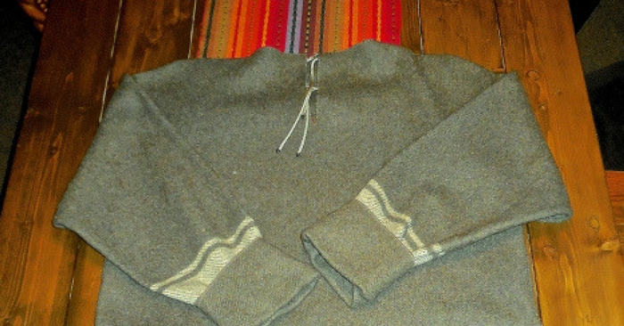 how to make an awesome shirt from a wool blanket. Black Bedroom Furniture Sets. Home Design Ideas
