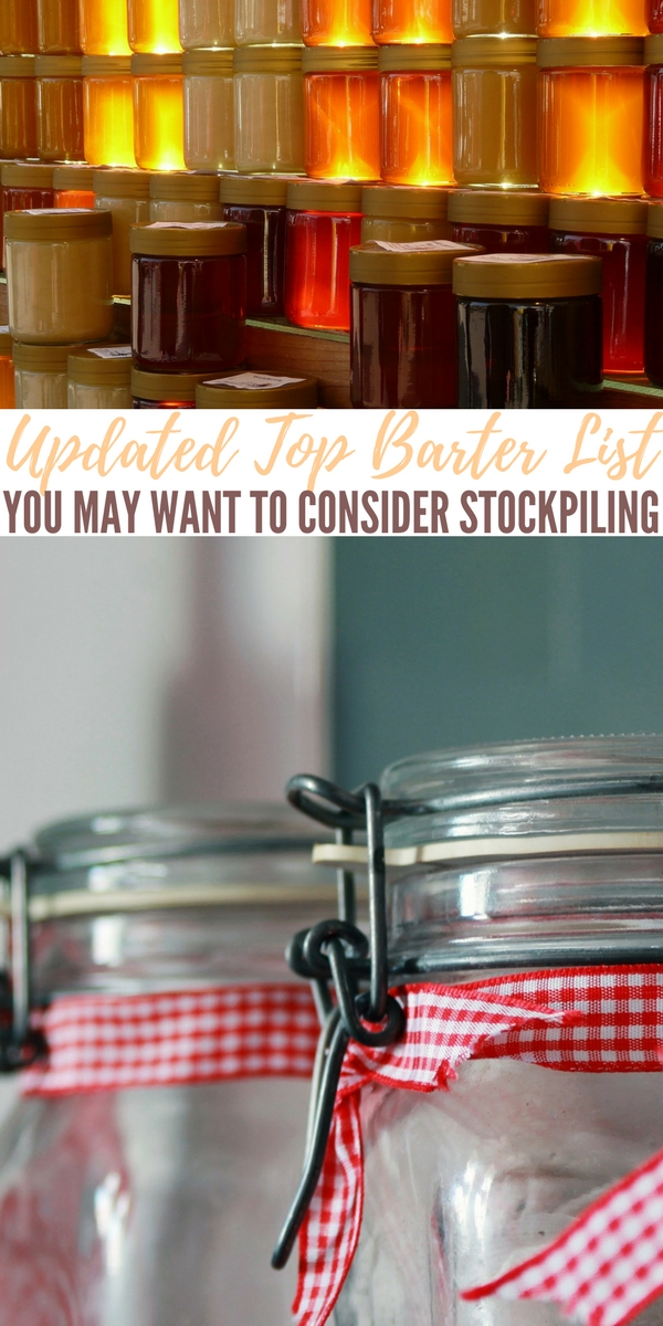 Updated Top Barter List You May Want To Consider Stockpiling — Having extra supplies for bartering should be on every prepper's plan. This enables you to barter for goods or services that you otherwise would be without!