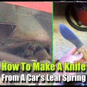How To Make A Knife From A Car's Leaf Spring