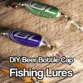 DIY Beer Bottle Cap Fishing Lures - Being able to catch your own food in an emergency situation is vital. Make fishing lures out of beer caps and have fish for dinner :)