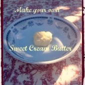 DIY Sweet Cream Butter