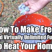 How To Make Free And Virtually Unlimited Fuel To Heat Your Home