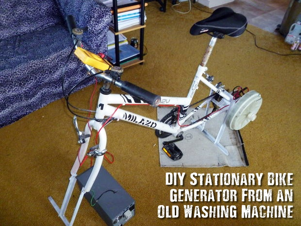 DIY Stationary Bike Generator From an Old Washing Machine - You might be wondering why the heck would you want to build a manual power generator, well the simple answer is.... when you have a back up plan for the back up plan the chances are you will succeed and prosper.