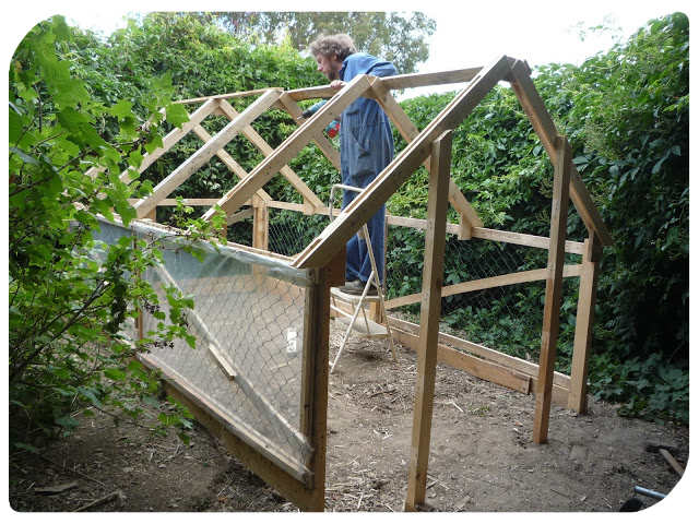Easy diy pallet greenhouse or chicken coop shtf prepping homesteading central - How to build a wooden greenhouse ...