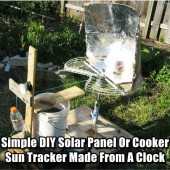 Simple DIY Solar Panel Or Cooker Sun Tracker Made From A Clock