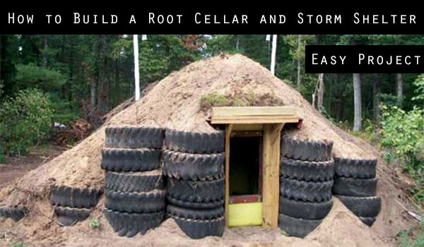 How to Build a Root Cellar and Storm Shelter - This awesome root cellar is also a great storm shelter anyone can build for a very LOW price! This design is sealed so snakes, spiders and creepy crawlers away from your food stock.
