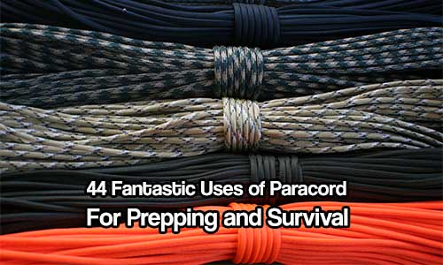 44 Fantastic Uses of Paracord for Prepping and Survival - Having projects to do that have paracord on, in or made from paracord could come in very handy if you find yourself in need of cordage, like for a shelter or fishing line!
