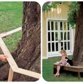 How To Build A Beautiful DIY Tree Bench