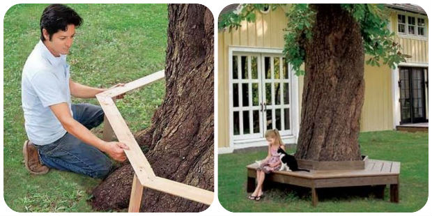 How To Build A Beautiful Diy Tree Bench Shtf Prepping Homesteading Central