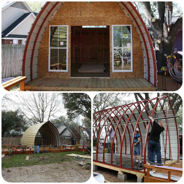 Build your very own arched cabin in a weekend for under for How to build a cabin floor