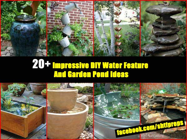 20 impressive diy water feature and garden pond ideas for Garden pool doomsday preppers