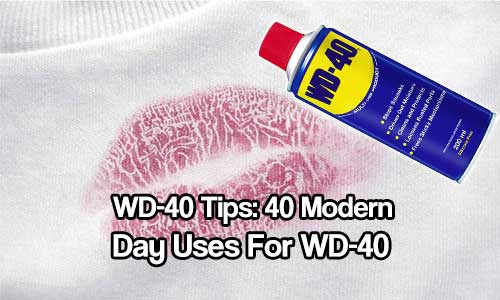 15 Modern Day Uses For WD-40 - As we all know WD-40 has always been known to stop creaks and squeaks but little do people know that it is as useful as duct-tape, if not more useful.
