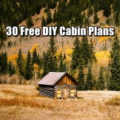 30 Free DIY Cabin Plans - Remember building a cabin or tiny house doesn't have to cost you the earth, just be sensible and use reclaimed wood that other people are getting and even check out craigslist, there are often times I find people giving away free wood, windows, doors etc.