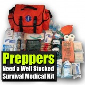 Preppers Need a Well Stocked Survival Medical Kit - Today we pretty much take for granted that we have access to medical supplies. What if these weren't available? Simple things we take for granted could become life threatening quickly so having a well stocked medical kit is a must.