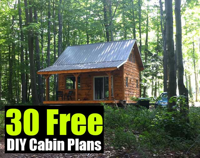 30 free diy cabin plans shtf prepping central for Simple log cabin plans free