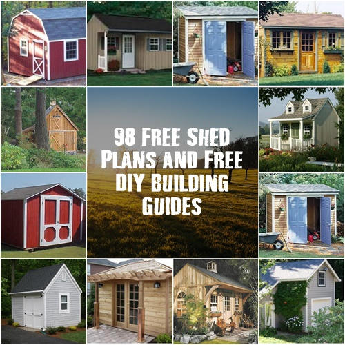 Do It Yourself Home Design: 98 Free Shed Plans And Free Do It Yourself Building Guides