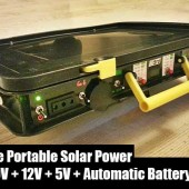 DIY All in One Portable Solar Power Unit