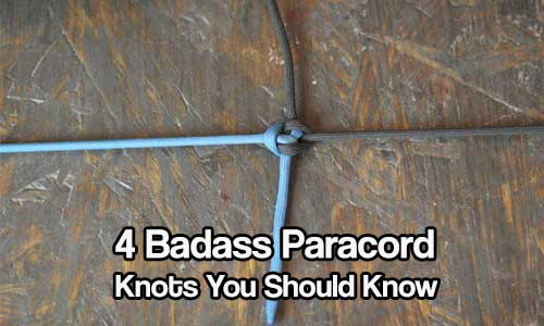 Four Badass Paracord Knots You Should Know - Paracord is a preppers best friend. It can hold up to 550 lbs of weight and when split can be used for fishing and other preparedness projects. It is worth it's weight in gold!
