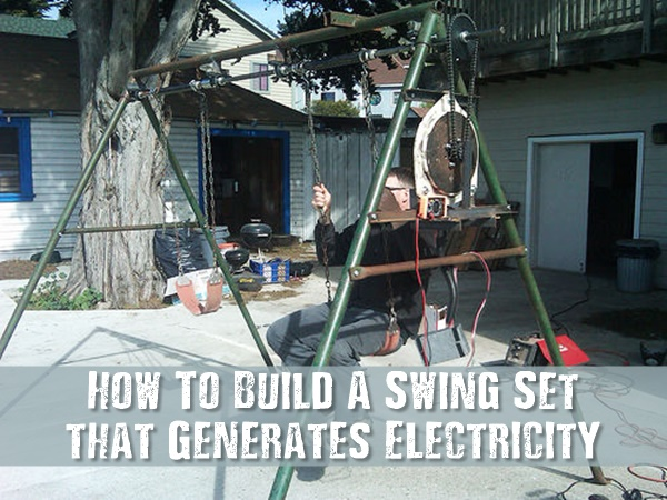 This great alternative to wind and solar project is pretty simple to build and by all accounts, really fun to have around. Certainly beats pedaling a homemade bike generator for hours at a time.