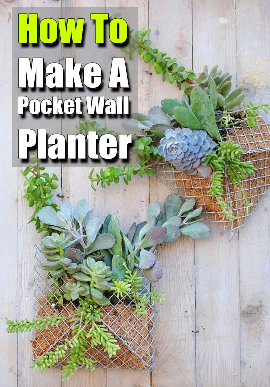 How To Make A Pocket Wall Planter - This easy, frugal quick project can give you more space to grow your herbs and plants. This ideally would suit the apartment preppers who have limited space to grow food and plants.
