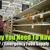 Why You Need To Have a SHTF / Emergency Food Supply Plan - Obviously, you can't live without food (for long). Unfortunately, there are times where you may not be able to just head on out to a grocery store or restaurant to eat.