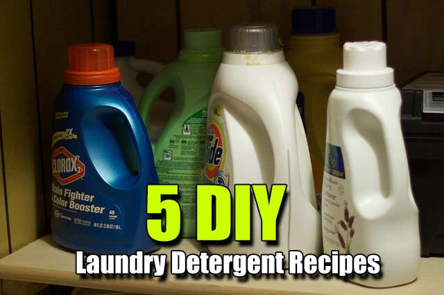 5 DIY Laundry Detergent Recipes - We all know that there is more than one way to skin a cat, the same can be said for laundry detergent. I found 5 great recipes that work and smell nice and that will save you hundreds of dollars a year!
