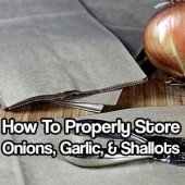 How to Properly Store Onions, Garlic, & Shallots - This old school way of storing works with any onion and works perfectly for garlic too. This method is affordable and will not take up a lot of space.