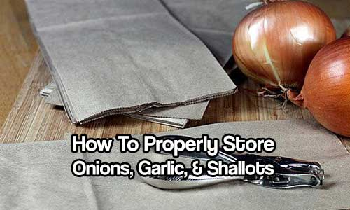 How To Properly Store Onions Garlic Shallots Shtf Prepping Central