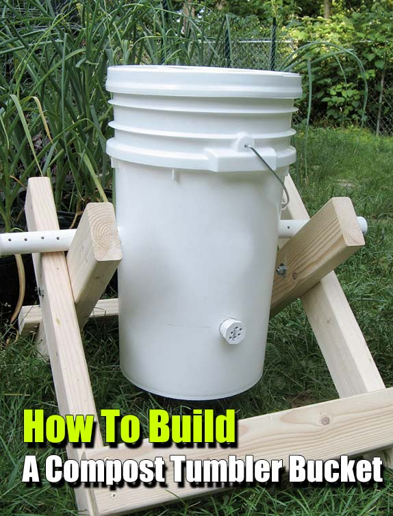 How To Build A Compost Tumbler Bucket - If you are lucky enough to have a garden, you need to have a compost tumbler, they are easy to make, cheap to build and can make compost very quickly. You can scale this compost tumbler to match your needs.